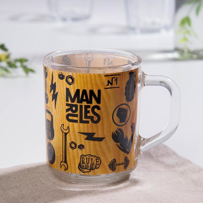 Кружка Доляна Man rules, 200 мл - фото 1094464