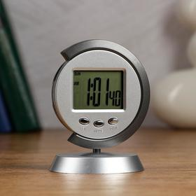 "Часы настольные электронные ""Таурис"": календарь, будильник, 1 ААА,  7.7х11 см"