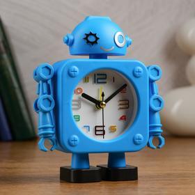 """Будильник-органайзер под ручки  детский """"Робот"""" 12 х 3.6 х 15 см, дискретный ход"""