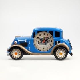 """Будильник настольный """"Автомобиль"""" d=7.5 см, 25х12 см, дискретный ход"""