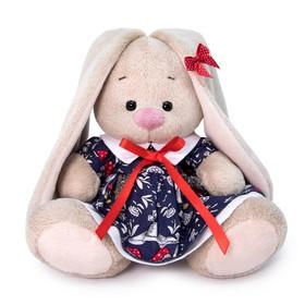 Мягкая игрушка «Зайка Ми в платье с мухоморами», 15 см