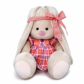 Мягкая игрушка «Зайка Ми в клетчатом платье», 18 см