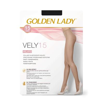 Колготки женские Golden Lady Vely, 15 den, размер 2, цвет nero