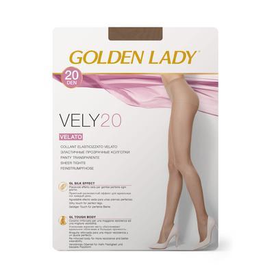 Колготки женские Golden Lady Vely, 20 den, размер 2, цвет cognac