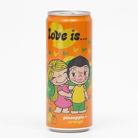 Вода газированная Love is, с ананасом и апельсином, 330 мл