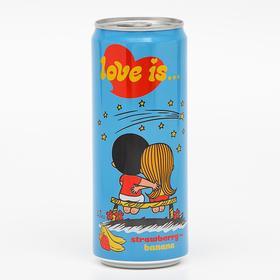 Вода газированная Love is, с клубникой и бананом, 330 мл