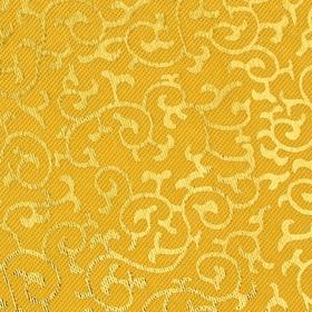 Ткань атлас бежевый с золотыми завитками (200 пог. м)