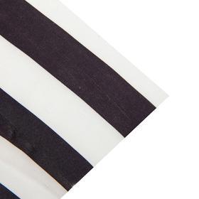 Ткань атлас бело-черная полоса, ширина 150 см (170 пог. м)