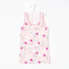 Майка для девочки, цвет розовый, рост 104-110 см (4/5)