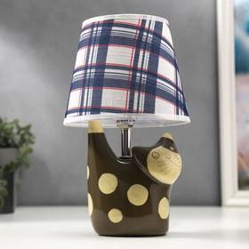 Лампа настольная 97520 1х40Вт Е14, коричневый, d=18 см, h=31 см