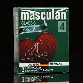 Презервативы Masculan 4 classic 3 шт увеличенных размеров, розового цвета