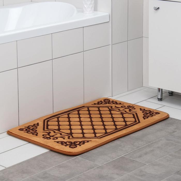 Коврик Доляна «Жанр», 50×80 см, цвет коричневый - фото 7651259