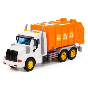 Автомобиль коммунальный «Профи» оранжевый, инерционный, со светом и звуком