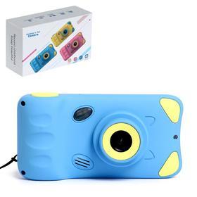 """Детский фотоаппарат """"Котик"""",  дисплей 4,39 дюйма, цвет синий"""