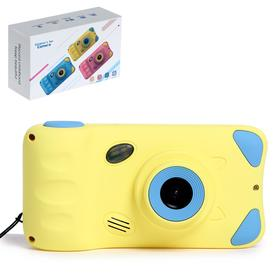 Детский фотоаппарат «Котик», дисплей 4,39 дюйма, цвет жёлтый