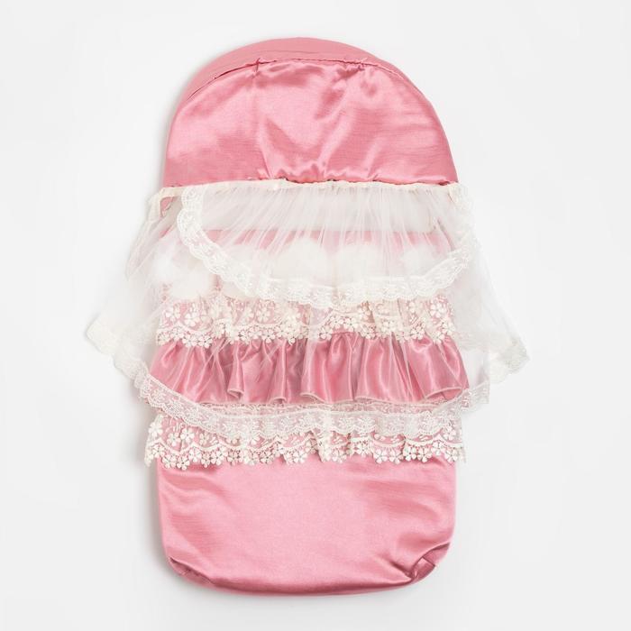Конверт для новорожденных, цвет розовый - фото 769404