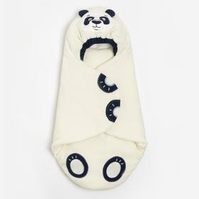 Конверт-кокон «Панда», цвет белый