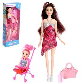 Кукла модель «Наташа» беременная,шарнирная  с ребёнком и аксессуарами МИКС
