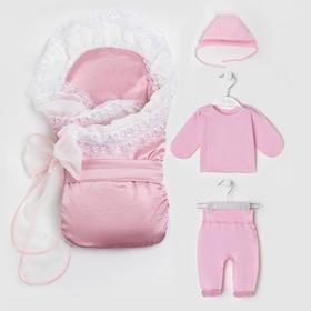 Комплект для новорожденных (6 предметов), цвет розовый