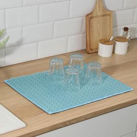 {{photo.Alt || photo.Description || 'Салфетка для сушки посуды Доляна «Зигзаг», 38×50 см, микрофибра, цвет голубой'}}