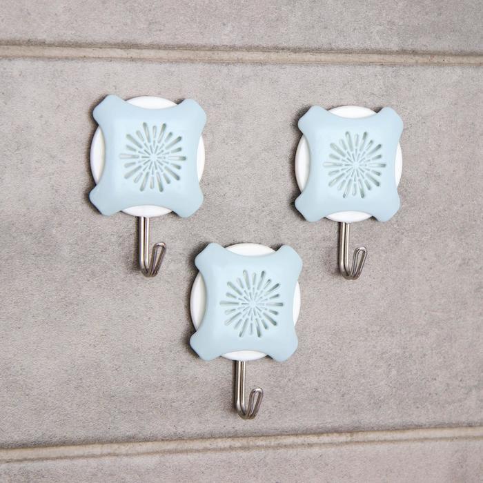 Набор крючков на липучке «Салют», 3 шт, цвет МИКС - фото 7652969