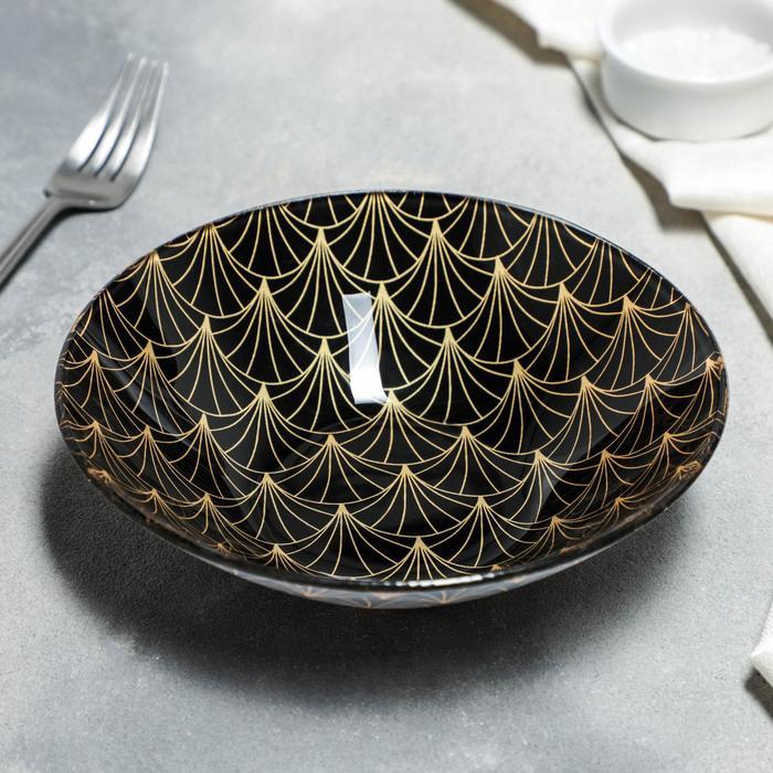 "Bowl ""Golden feather"" 18x4. 5 cm"
