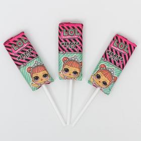 Жевательная конфета, LOL, на палочке со вкусом клубники, 11,2 г.