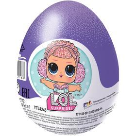 """Шоколадное яйцо """"ШОКИ-ТОКИ"""" LOL, с игрушкой, 20 г"""