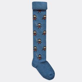 Колготки детские, цвет тёмно-синий, размер 116-122