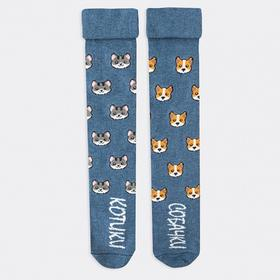 Колготки детские, цвет синий, размер 104-110