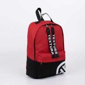 A backpack, a Department with a zipper, external pocket, color black/red