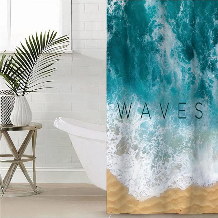 """Штора для ванной Этель """"Waves"""" 145 х 180 см, полиэстер - фото 7651297"""