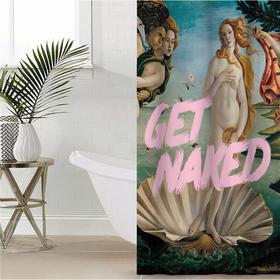 """Штора для ванной Этель """"Get naked"""" 145 х 180 см, полиэстер"""