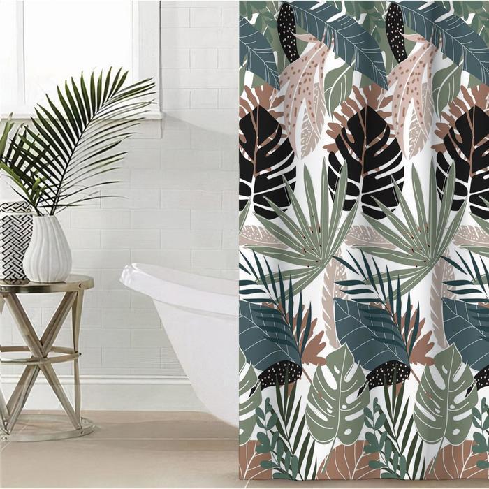 """Штора для ванной Этель """"Tropic"""" 145 х 180 см, полиэстер - фото 7651357"""