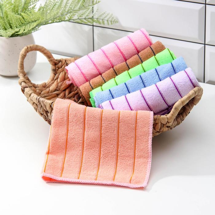 """Cleaning cloth """"Strips"""" 29x29 cm, 190 gr, MIX colors"""