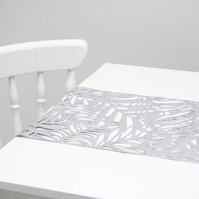 {{photo.Alt || photo.Description || 'Дорожка для стола «Листья», 33×150 см, цвет серебро'}}