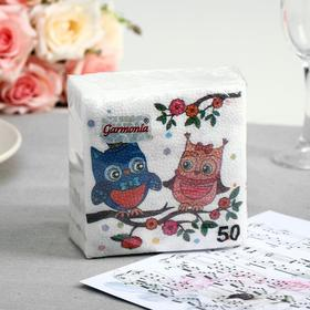 Салфетки бумажные «Гармония цвета. Совы», 50 шт.