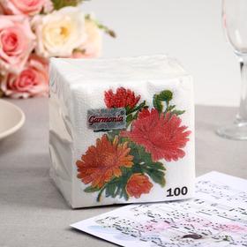 Салфетки бумажные «Гармноия цвета. Астры», 100 шт.