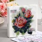Салфетки бумажные New Line FRESCO Чайная роза, 2-слоя 20 листов 33*33