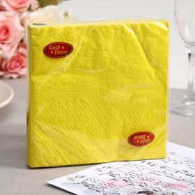"""Салфетки бумажные Gold decor 33*33 3 слоя """"Lemon heart"""", 20 листов"""