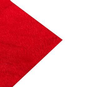 Мех искусственный красный, ширина 165 см