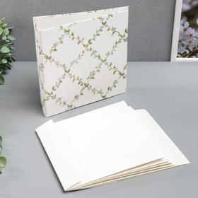 """Заготовка для фотоальбома """"Нежные цветы"""" 10 листов, 20х20 см"""