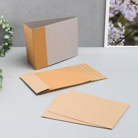Blank for a photo album from kraft cardboard
