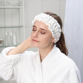 Фиксатор для волос с двумя резинками одноразовый Чистовье, спанлейс, 10 шт/уп, цвет белый