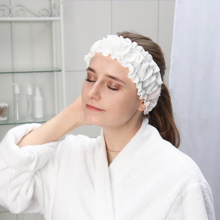Набор фиксаторов для волос с двумя резинками одноразовый Чистовье, спанлейс, 10 шт/уп, цвет белый - фото 7651411