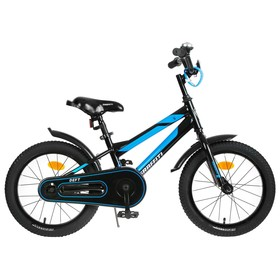 """Велосипед 16"""" Graffiti Deft, цвет чёрный/голубой"""