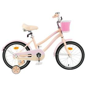 """Велосипед 16"""" Graffiti Flower, цвет персиковый/розовый, набор стикеров-наклеек в комплекте"""