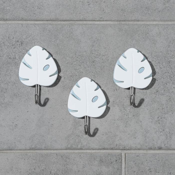 Набор крючков на липучке «Флора», 3 шт, цвет и дизайн МИКС - фото 7653060