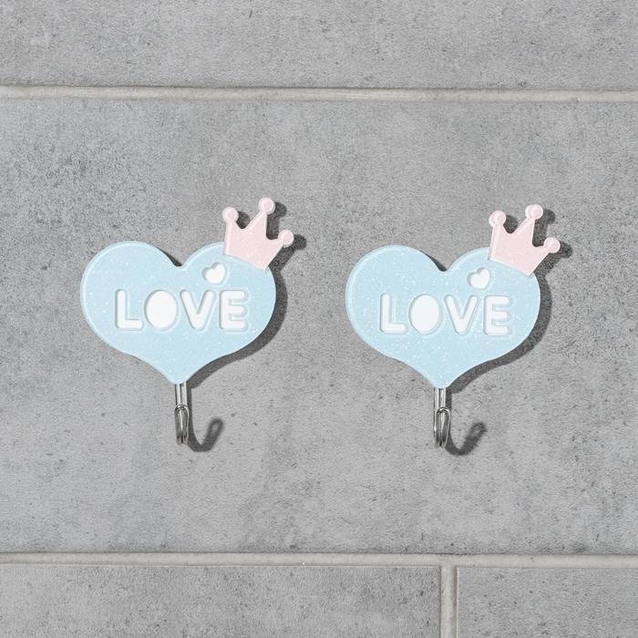 Набор крючков на липучке «Романтик», 2 шт, цвет и дизайн МИКС - фото 7653075