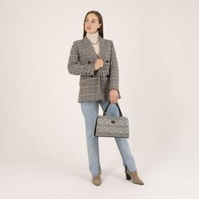 Сумка женская, отдел на молнии, наружный карман, цвет серебристый - фото 354965